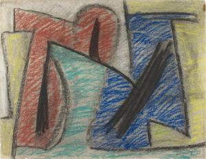 gerard schneider - sans titre pastel papier 1948