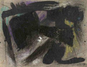 gerard schneider - untitled 1947 charcoal