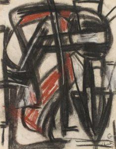 gerard schneider - untitled 1947 charcoal pastel