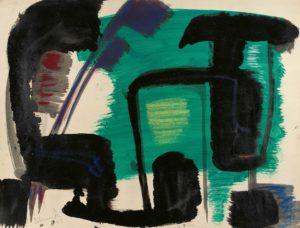 gerard schneider - untitled 1951 gouache