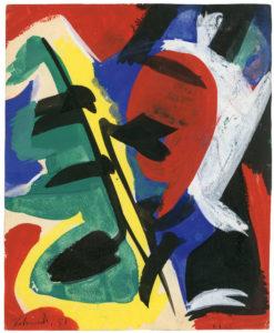 gerard schneider - untitled 1951 gouache newsletter art comes to you 12