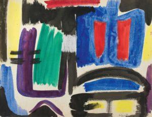 gerard schneider - untitled 1951 ink