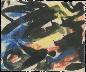 gerard schneider - untitled c 1951 pastel paper