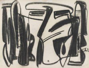 gerard schneider - untitled charcoal 1948