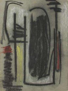 gerard schneider - untitled charcoal paper 1947