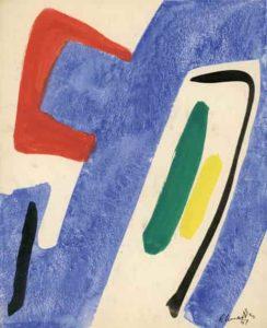 gerard schneider - untitled gouache 1951