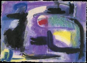 gerard schneider - untitled gouache 1954