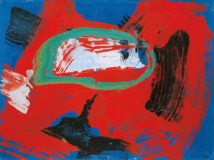gerard schneider - untitled gouache 1965
