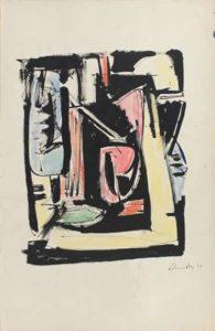 gerard schneider - untitled gouache paper 1944