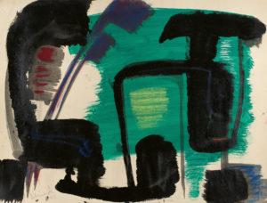 gerard schneider - untitled gouache paper 1951 newsletter art comes to you 12