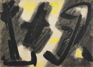 gerard schneider - untitled paper charcoal 1946