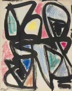 gerard schneider - untitled pastel 1948