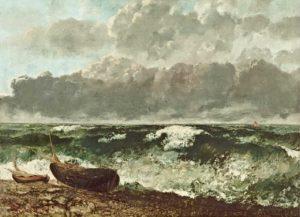 gustave courbet - la mer orageuse 1870 newsletter art vient a vous 1