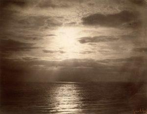gustave le gray - effet de soleil dans les nuages 1856 1857 newsletter art comes to you 1
