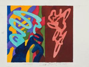 guy de rougemont - aquarelle 2000 ca papier sans titre