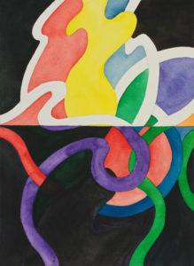 guy de rougemont - aquarelle sur papier c 2000