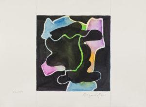 guy de rougemont - aquarelle sur papier sans titre 2001