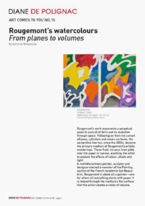 guy de rougemont - art comes to you from planes to volumes