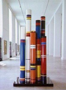 guy de rougemont - huit grands tubes sur socle 1975 newsletter art vient a vous 5
