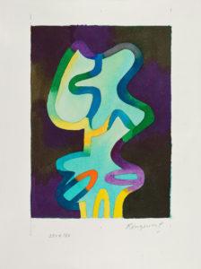 guy de rougemont - painting watercolor paper 2000