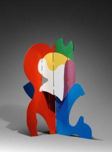 guy de rougemont - sculpture paravent painted steel 201