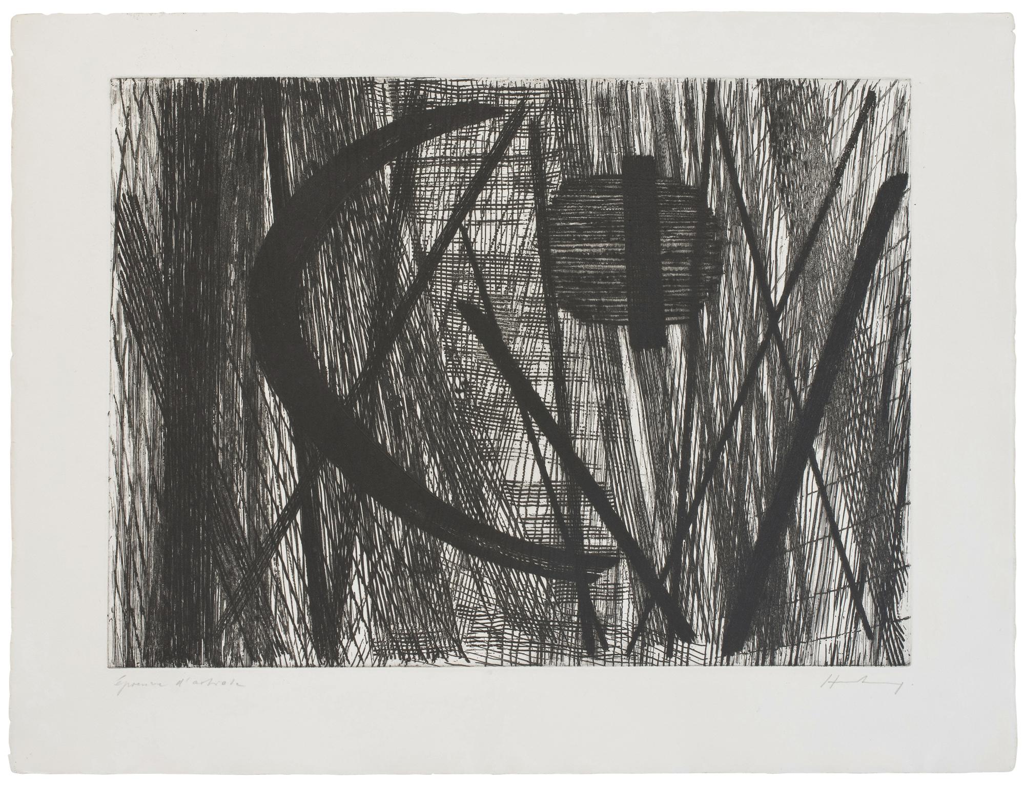 hans hartung - etching g 11 1953