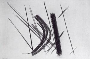 hans hartung - lignes dans espace 42 1950 newsletter l art vient a vous 7