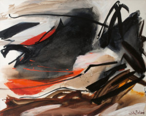 huguette arthur bertrand - cela qui gronde 1967 painting