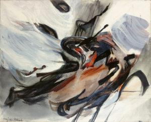 huguette arthur bertrand - cela qui souffle 1960 painting
