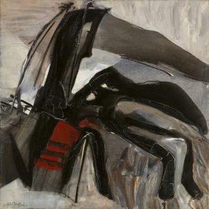 huguette arthur bertrand - ecume noire 1966 painting