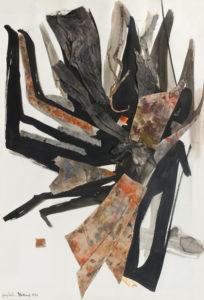huguette arthur bertrand - grand collage 1965 papier