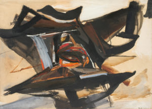 huguette arthur bertrand - noeud d orage 1965 painting