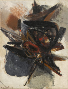 huguette arthur bertrand - sans titre huile toile 1963