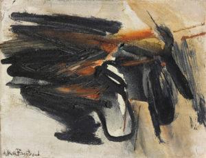 huguette arthur bertrand - untitled 1963 painting