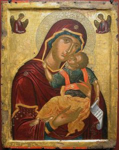 icone anonyme cretois - virgin child - c 1500 newsletter art comes to you 8