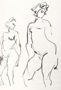 jean miotte - etude nu 1948 newsletter art vient a vous 9