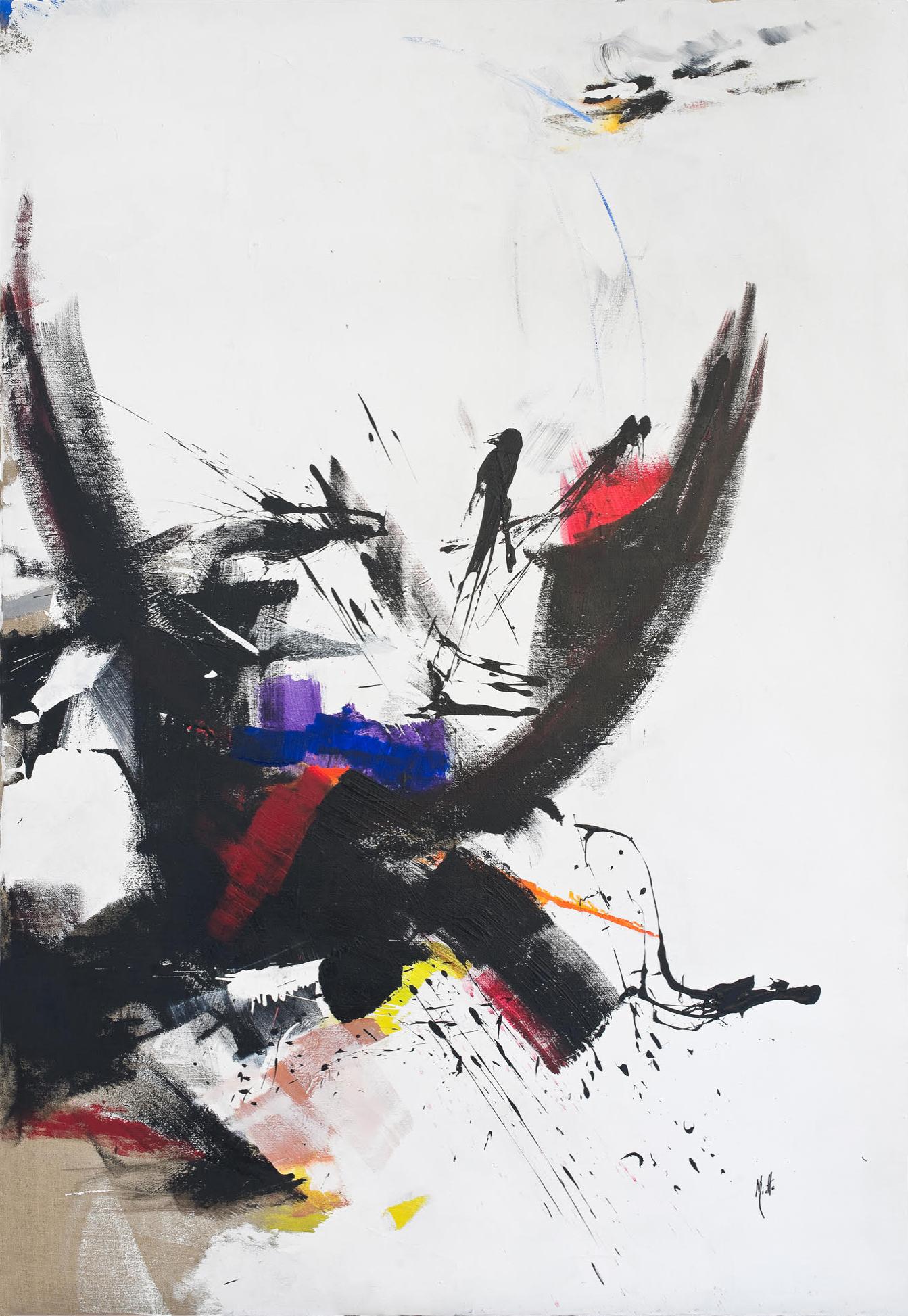 jean miotte - peinture sans titre 1973 newsletter art vient a vous 9