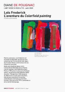lois frederick - aventure du colorfield painting newsletter l art vient a vous 10