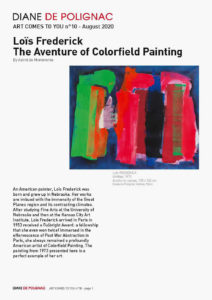 lois frederick - aventure of colorfield painting newsletter art comes to you 10