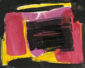 lois frederick - untitled 1960 paper gouache