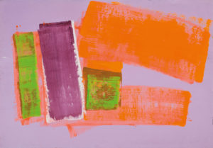 lois frederick - untitled acrylic paper 1977