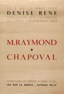 marie raymond - chapoval galerie denise rene prix kandinsky 1949