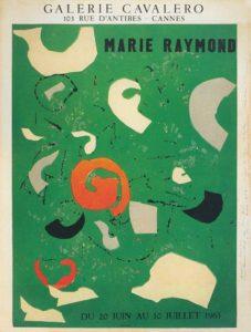 marie raymond - exposition galerie cavalero cannes 1963