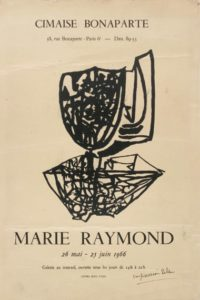 marie raymond - exposition peintures 1960 1966 galerie cimaise paris