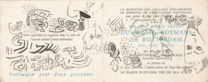 marie raymond - invitation show exhibition museum boymans rotterdam 1952