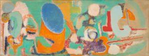 marie raymond - painting l oeil bleu lointain 1950