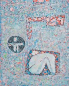 marie raymond - peinture enfermes dans les formes 1976 newsletter art vient a vous 11