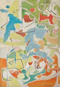 marie raymond - peinture huile sans titre 1953