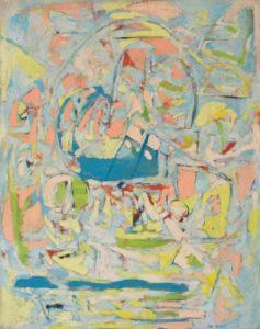 marie raymond - peinture le fil embrouille 1957