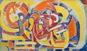 marie raymond - peinture rythmes 1946